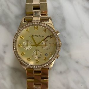 Marc by Marc Jacobs Gold Henry Glitz Watch